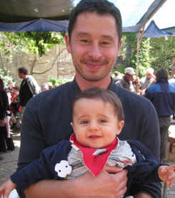 Florent Plageoles with son Marcel, the next-generation vigneron at Gaillac's Domaine Plageoles.