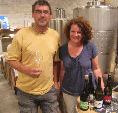 Katie Jones of Domaine Jones with Jean-Marc.