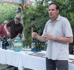 While I talk about Corsican wine, Doug Bell shows his prowess with a corkscrew.